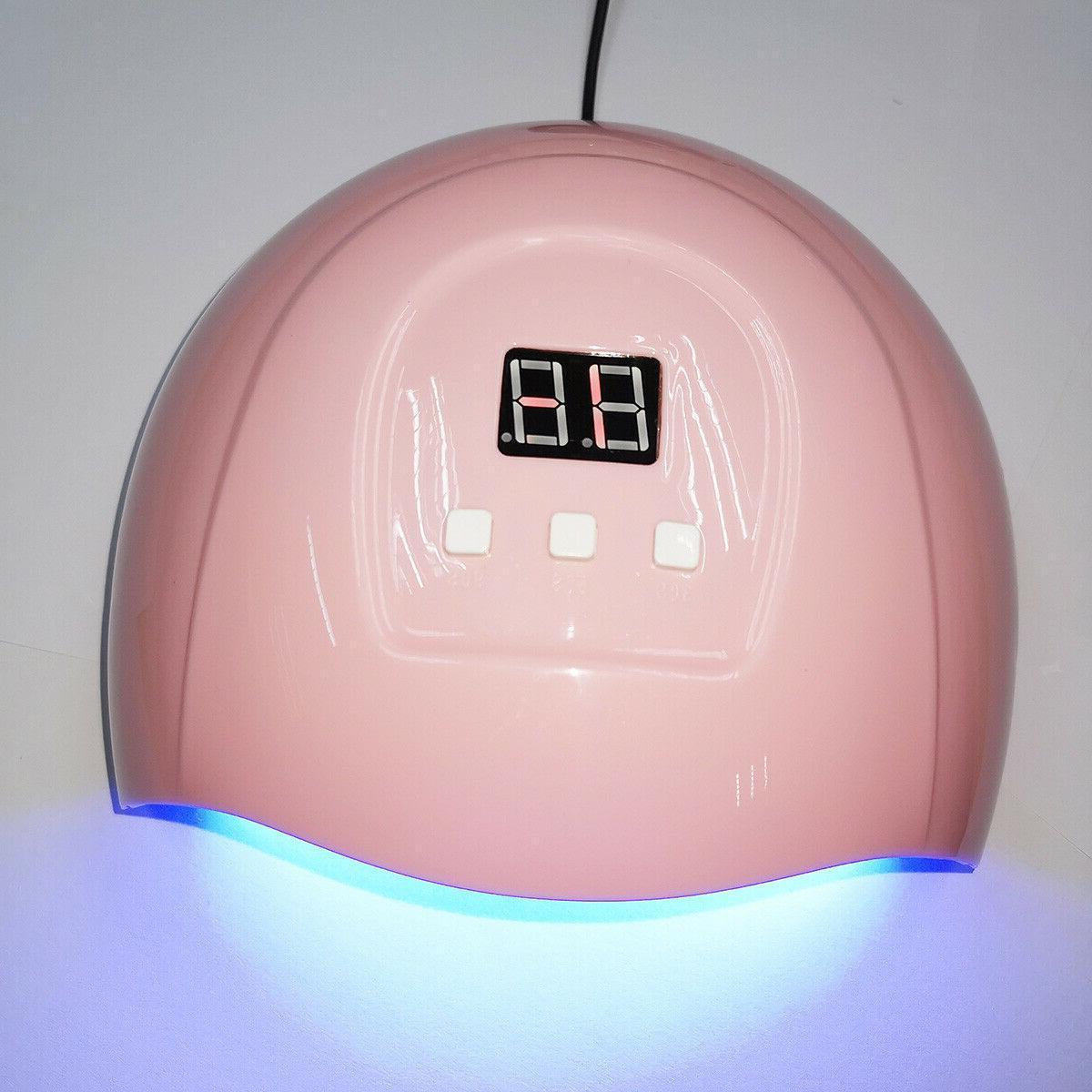 led uv nail gel polish dryer lamp