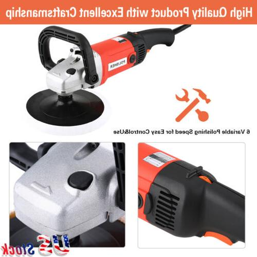 "7"" Electric Car Electric Buffing Waxer US"