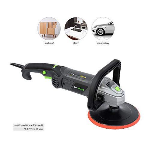 "Polisher, GALAX Car Buffer 7"" Sander,Detachable D Shape Handle, Soft for Appliance, Furniture, Ceramic, Detailing"