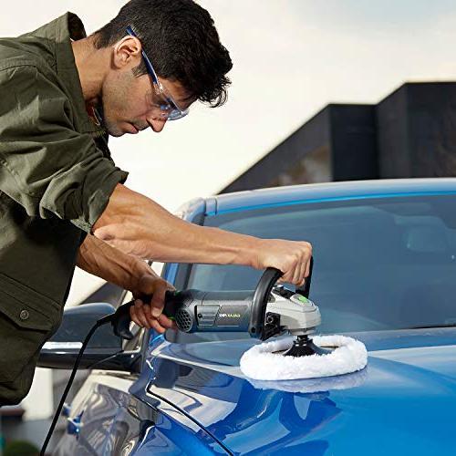 """Polisher, PRO Car Buffer 7"""" 6 Sander,Detachable D Soft for Home Furniture, Detailing"""