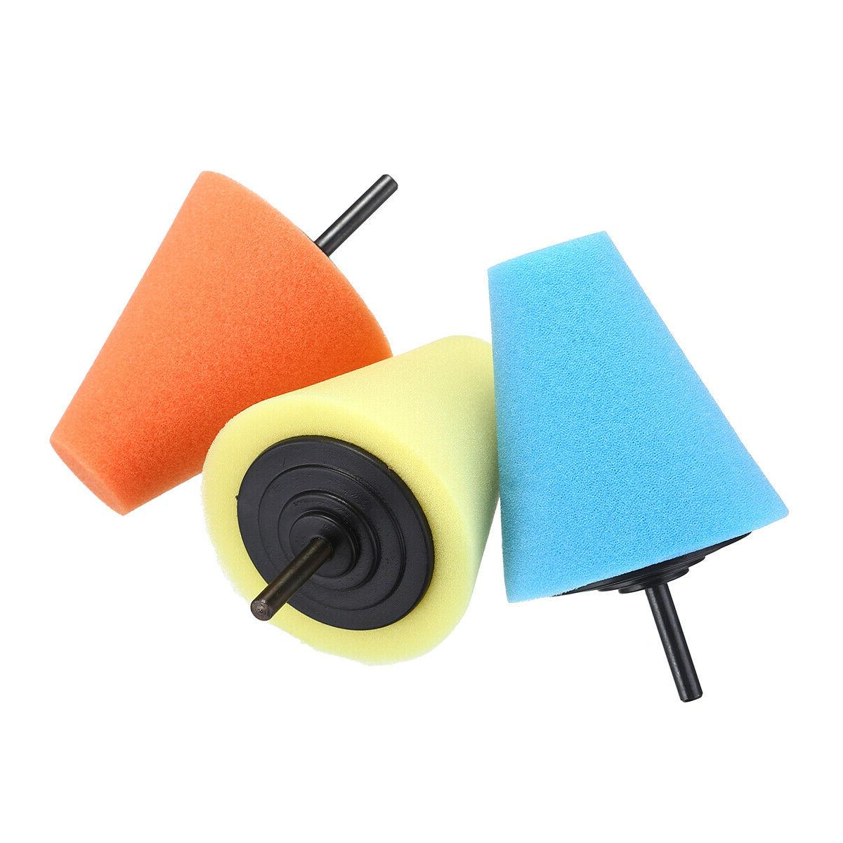 Burnishing Foam Cone Pad Car Hub Set