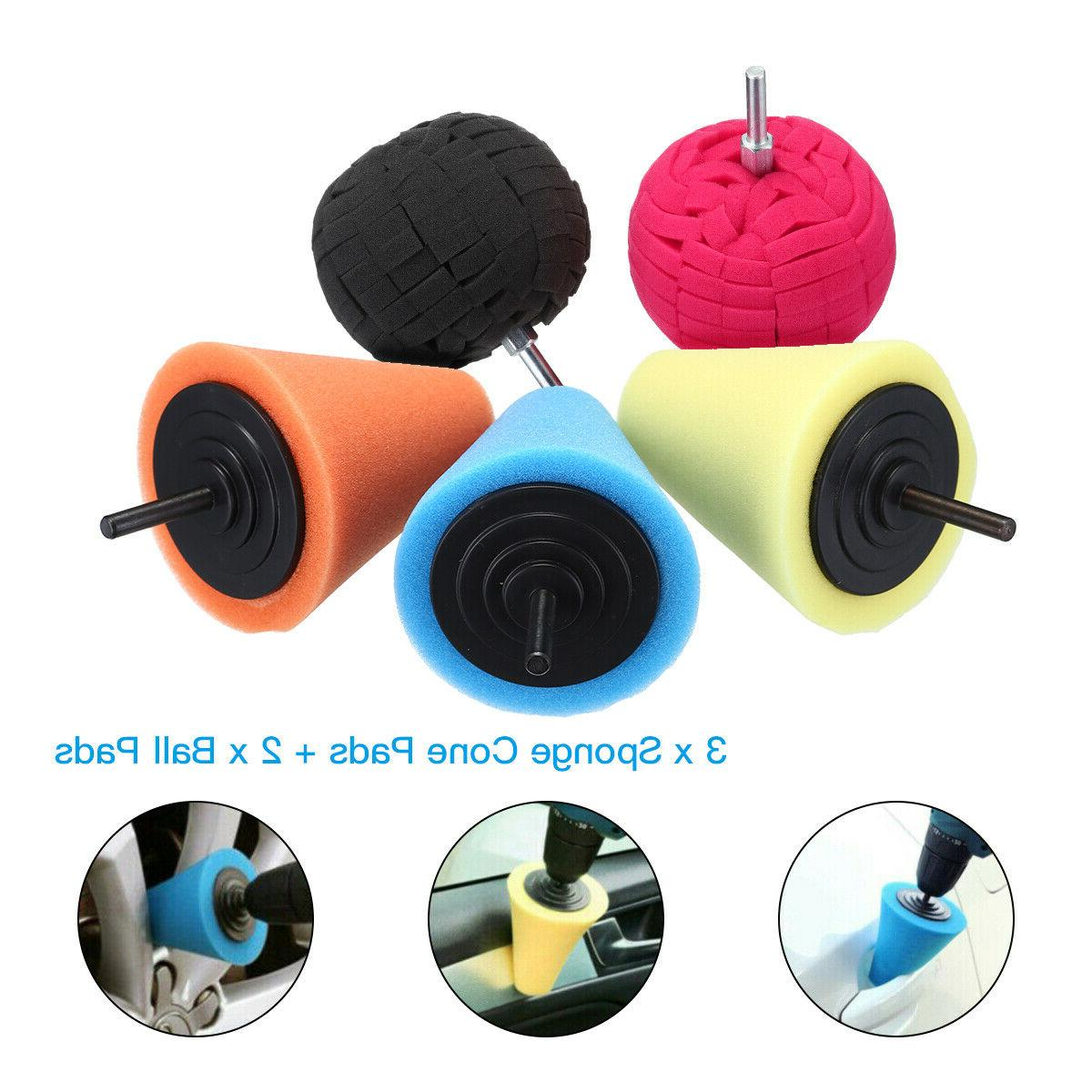 Burnishing Foam Cone Buffing Pad Car Wheel Set