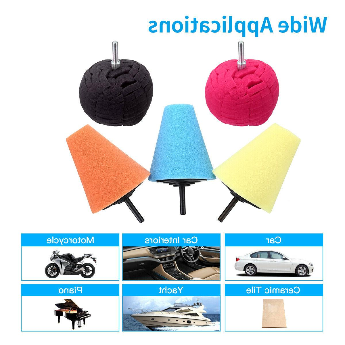 Burnishing Foam Cone Buffing Car Set