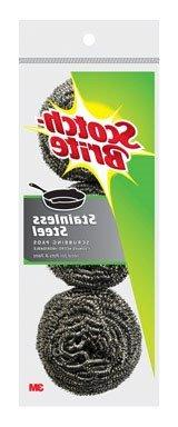 Scotch-Brite 3M Stainless Steel Scouring Pad, 3-Pad