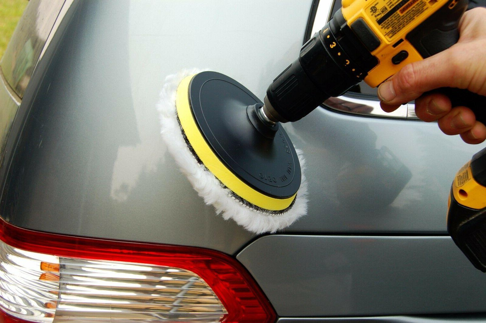 12 pcs 4 inch Polishing Sponge Pad Drill Adapter Kit For Car