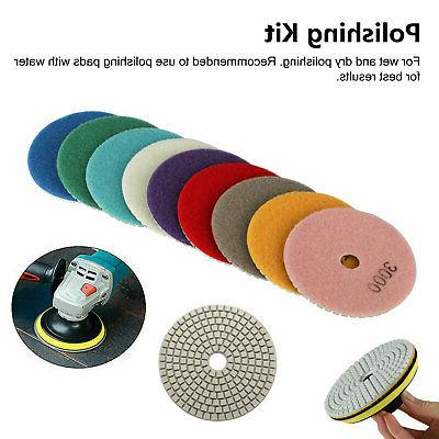 10pcs Dry Polishing Pads Inch Set Concrete