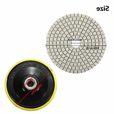 10pcs Dry Polishing Pads 4 Set Concrete Granite