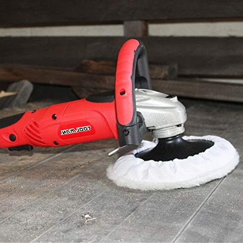 Toolman Compact Polishing Buffer Waxer Sander W/ pad sandpaper with Makita Ryobi