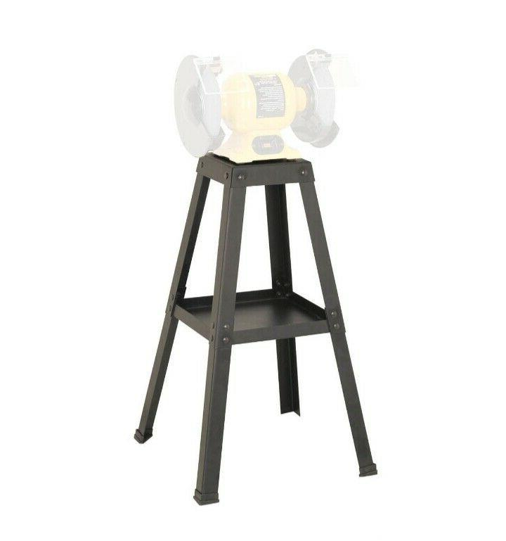 Universal Bench Grinder Stand Workspace Garage Shop Steel Bu