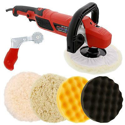 "7"" Variable Buffer, Buffing Pad Kit, Wool"
