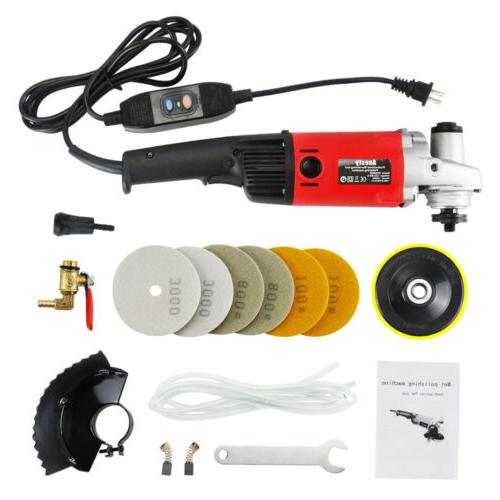 Variable Speed Stone Wet Polisher Grinder Polishing Kit Gran