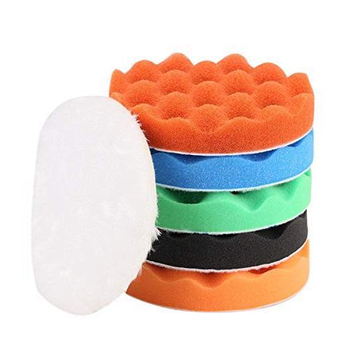 waffle buffing polishing pad set