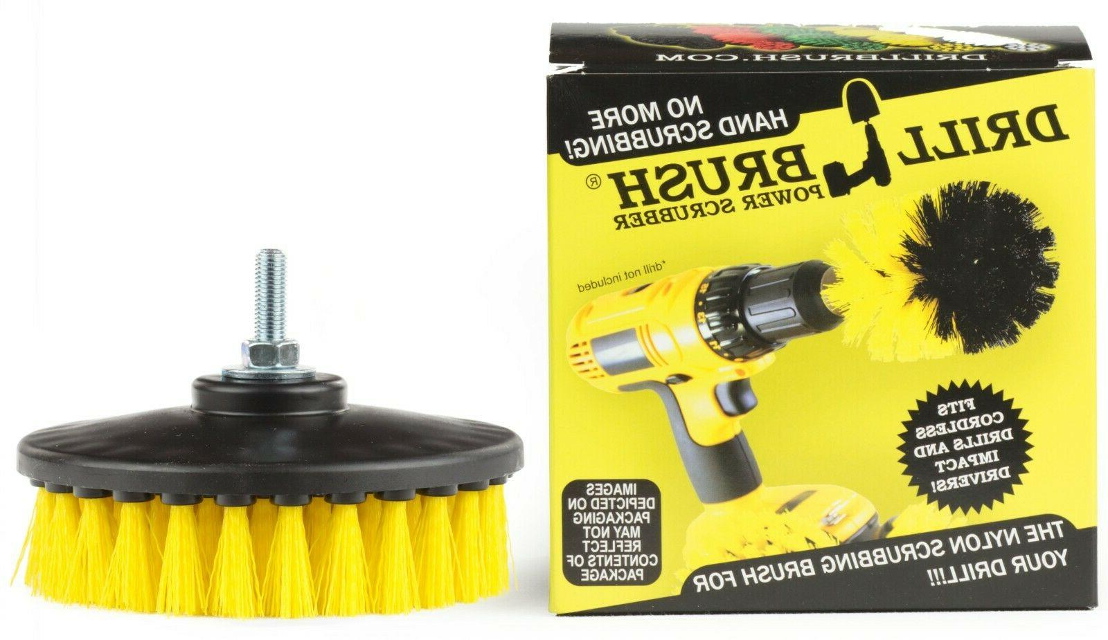 yellow threaded contractor scrub brush