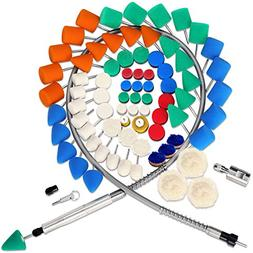 SPTA 78Pcs Mini Detail Polisher With Assorted Pads Polishing