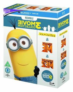 MINIONS 3-MOVIE COLLECTION  Brand New BLU-RAY Set