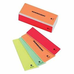 Tweezerman Neon Hot 4-in-1 File, Smooth & Shine Block