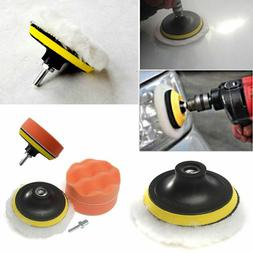 New 5pcs High Polishing Buffer Pad Set Kit +Drill Adapter Fo