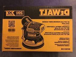 """New Dewalt DCW210B 20V Max XR Brushless 5"""" Random Orbital"""
