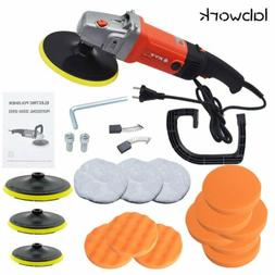 New Electric Car Polisher Buffer Sander Waxer Kit Variable 6