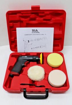 "# NP 750A BRAND NEW Air Nesco 3"" Mini Polisher Tool Kit w/ P"