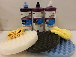 3M Perfect it BUFFING & POLISHING KIT Pad Compound Foam 3906