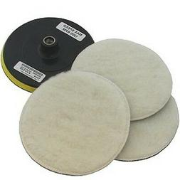 "7"" POLISHER/BUFFER SOFT WOOL BONNET & PAD with HOOK & LOOP f"