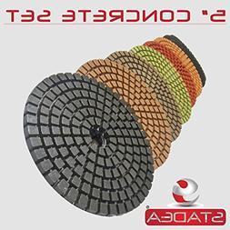 "STADEA Premium Grade Wet 5"" Diamond Polishing Pads Set For C"