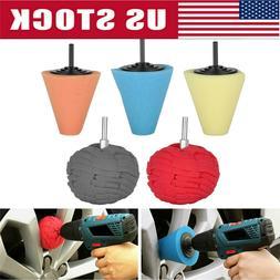 Burnishing Foam Sponge Polishing Cone Ball Buffing Pad Car W