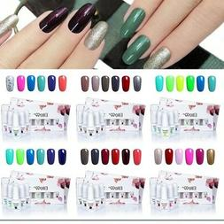 Elite99 Soak Off Gel Polish 6pcs Varnish Lacquer Nail Art DI