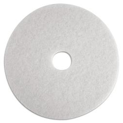 3M Low-Speed Super Polishing Floor Pads 4100, 18-Inch, White