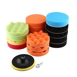 19pcs 4 inch Sponge Polishing Waxing Buff Pads Set Kit with