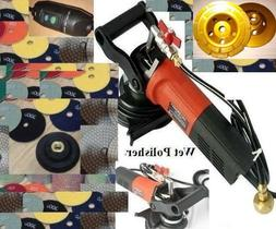 "Stone Polisher/Concrete Polisher 5"" Wet Polisher Kit for Gra"