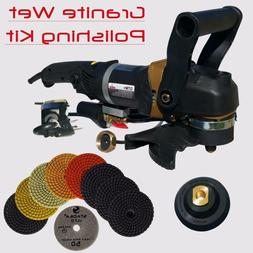 Stadea SWP102K Stone Polisher Granite Polishing Kit - Wet Va