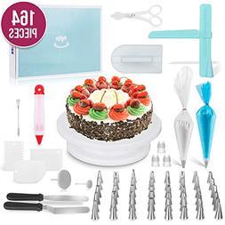 Ultimate Cake Decorating Supplies 164 Pcs by MERRI | Baking