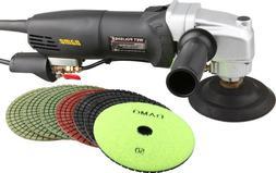 """DAMO Variable Speed Polisher 5"""" Wet Polishing Kit Granite/Co"""
