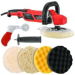 "7"" Variable Speed Polisher Buffer, Polishing Buffing 3 Pad K"