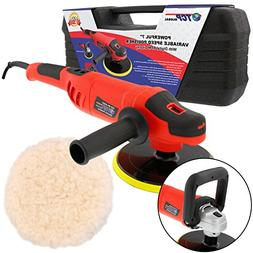 "7"" Variable Speed Polisher Buffer, Digital RPM Display; Poli"