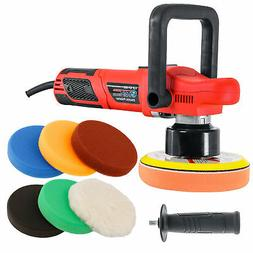 "6"" Variable Speed Random Orbit Dual-Action Polisher, 6 Buffi"