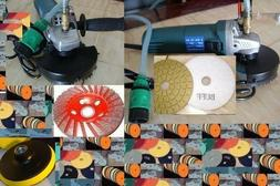 Variable Speed Wet Polisher 50 Pad 3 Buff 5 Grinding Cup Gra