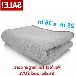 waffle weave gray matter microfiber drying towel