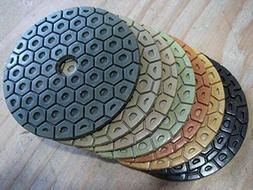 Wet Diamond Polishing Pads 7 Inch 180mm A Set For Granite Co