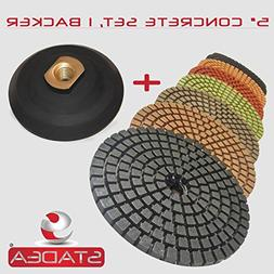 "STADEA 5"" Wet Diamond Polishing Pads Set for Concrete polish"