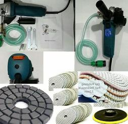 5 Inch Variable Speed Wet Polisher Polishing 8 Pad Marble Co