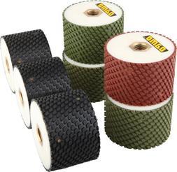 """3"""" DAMO Wet Polishing Drum Wheels Set of 7 PCS for Granite/M"""