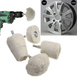 White Cotton Pad Polishing Buffing Wheel Rims Car Motorcycle