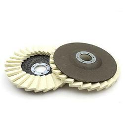Wool Buffing Polishing Wheel Felt Pad 4Inch Angle Grinder Bu