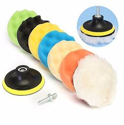 New 8Pcs 5 Inch Woolen Polishing/Buffing Pad Kit For Car Pol